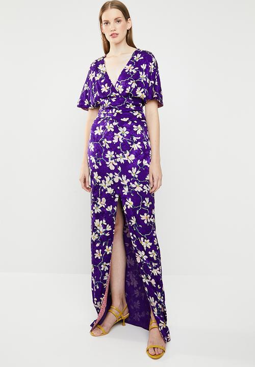 927f478e6d14 Floral kimono dress - purple MANGO Casual   Superbalist.com