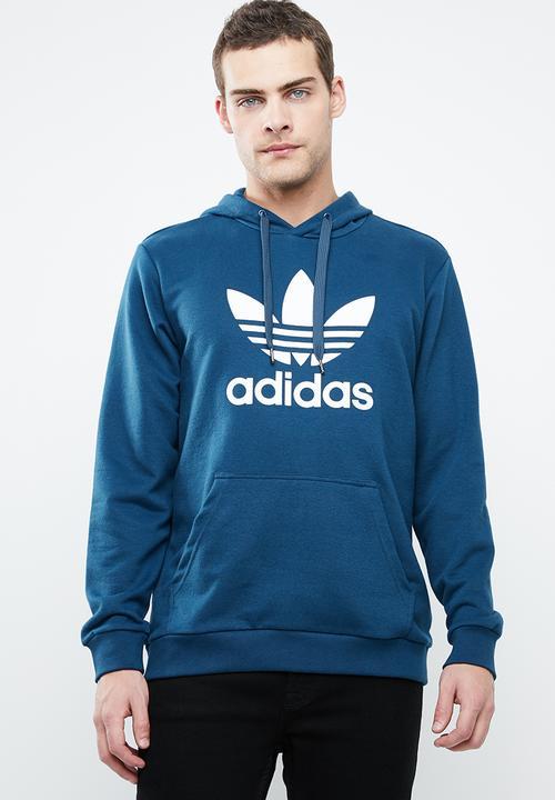 Trefoil hoodie blue