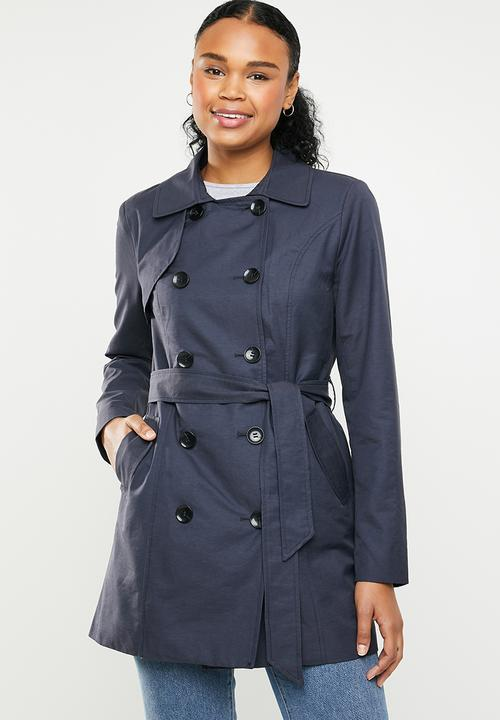 amazing quality moderate cost 2019 hot sale Laura trench coat - navy