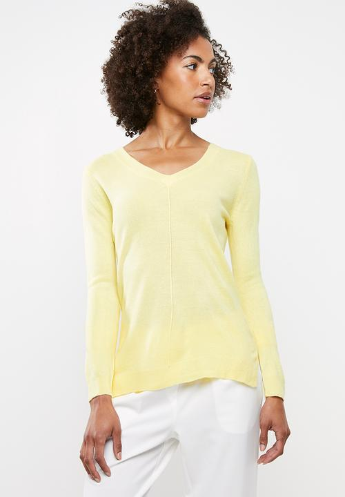 d17c06fb54f Essential v-neck jersey - yellow