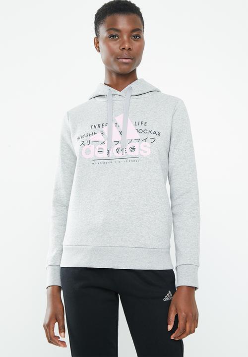 592701fa739e Ladies graphic hoodie - medium grey heather adidas Hoodies, Sweats ...