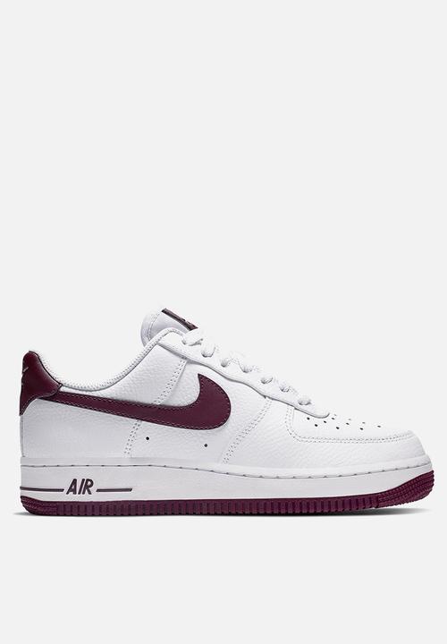 c816281c810 Women's Nike Air Force 1 '07 - AH0287-105 - white/bordeaux Nike ...