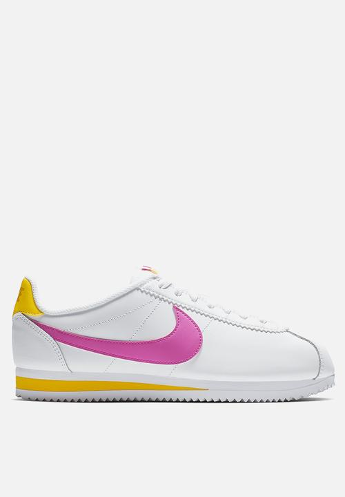 new arrival 4a48f 729ee Nike - Classic Cortez Leather - White laser fuschia-laser