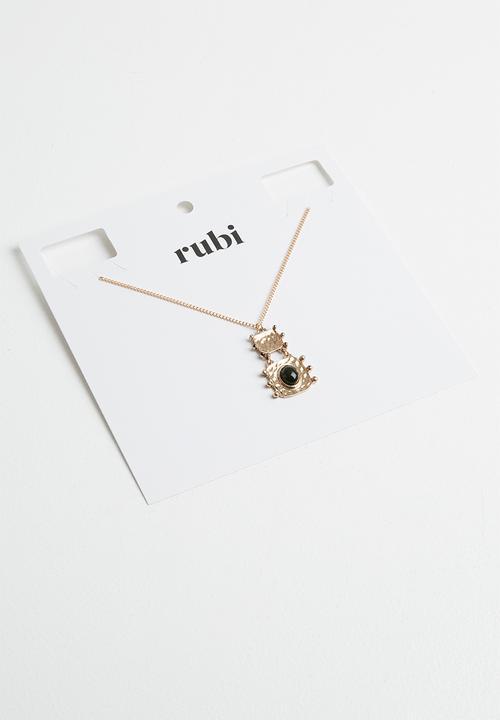 Aruba Boho Necklace   Gold & Black by Cotton On