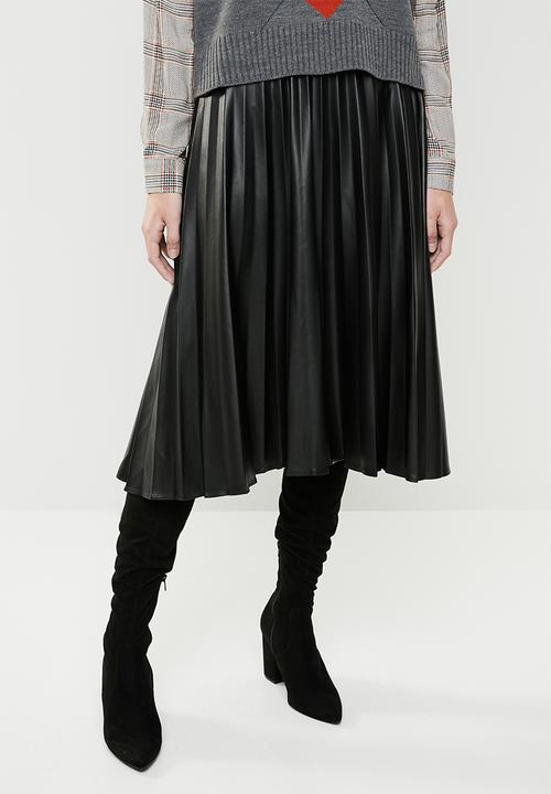 35b8db8180 PU pleated skirt - black Superbalist Skirts | Superbalist.com