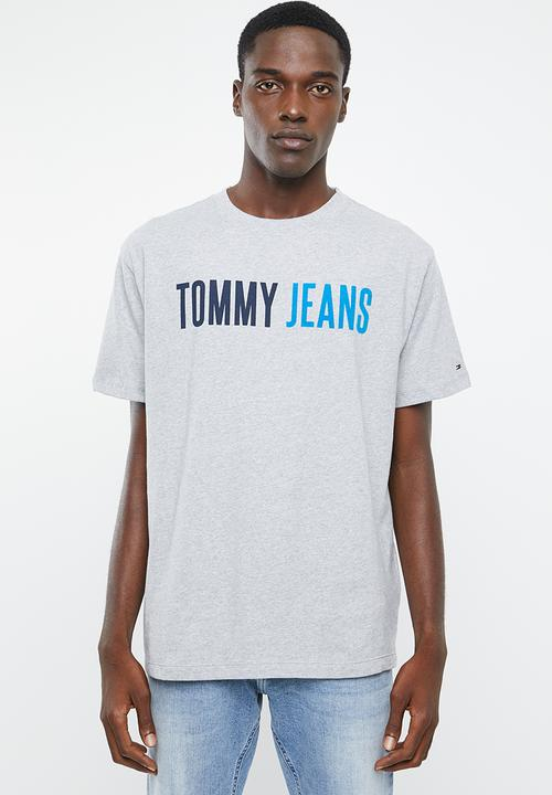 53c6daa6 Tjm tommy jeans tee - grey Tommy Hilfiger T-Shirts & Vests ...