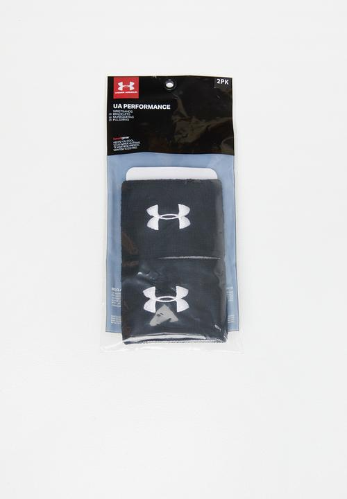 check out 58d6a 77182 Under Armour - UA performance wristbands - black   white