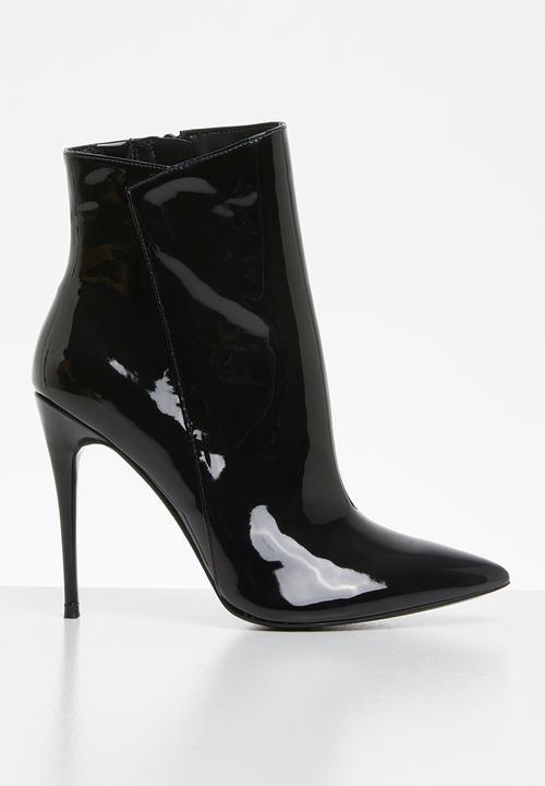 2effa26d7b7 Leather stiletto heel ankle boot - black patent