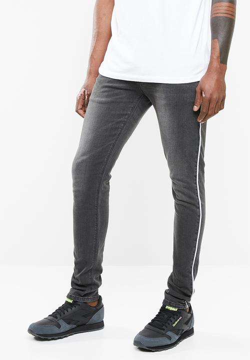 fc23f04626 Skinny jeans - white piping - washed grey Superbalist Jeans ...
