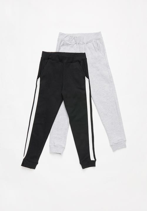 c04429cc Kids 2 pack tracksuit pants - black/grey POP CANDY Pants & Jeans ...