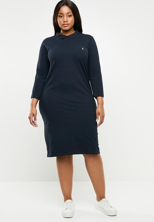 Plus size ivy short sleeve golf dress - navy POLO Dresses ...