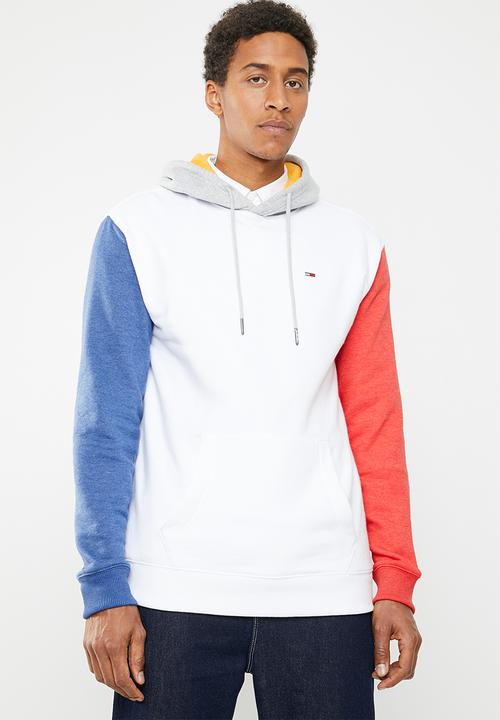 0e560c2c Tjm colourblock hoodie - white Tommy Hilfiger Hoodies & Sweats ...