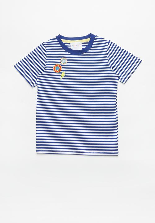 48896195cb93 Striped short sleeve tee - blue/white POP CANDY Tops | Superbalist.com