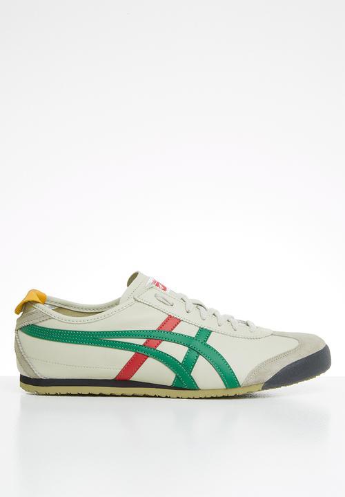 birch/green Onitsuka Tiger Sneakers