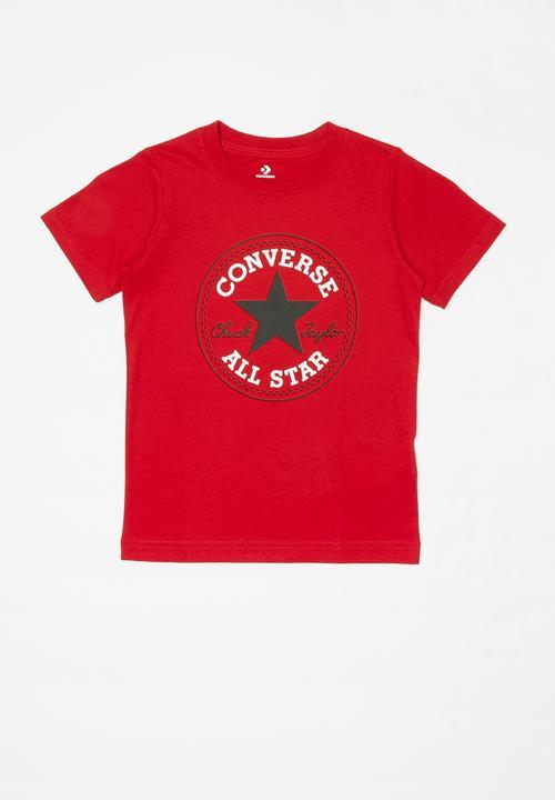 Cnvb chuck patch tee - red Converse