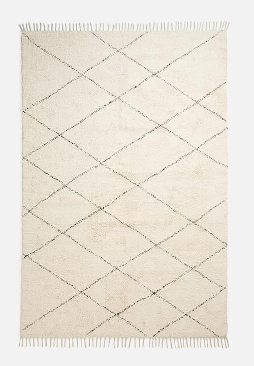 Raven Tufted Rug   Cream by Sixth Floor