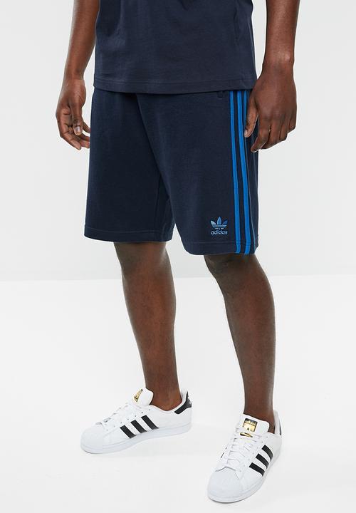 3 stripe short - collegiate navy/blue bird adidas Originals Sweatpants &  Shorts | Superbalist.com