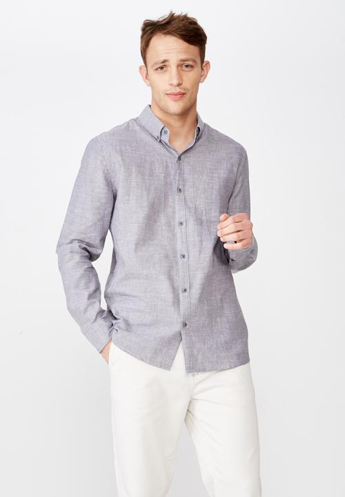 Premium Long Sleeve Shirt   Grey by Cotton On