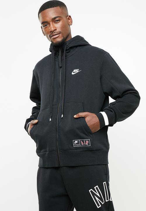 Desarmado ventilador financiero  Nsw nike air hoodie fz flc - black/black/sail Nike Hoodies, Sweats ...
