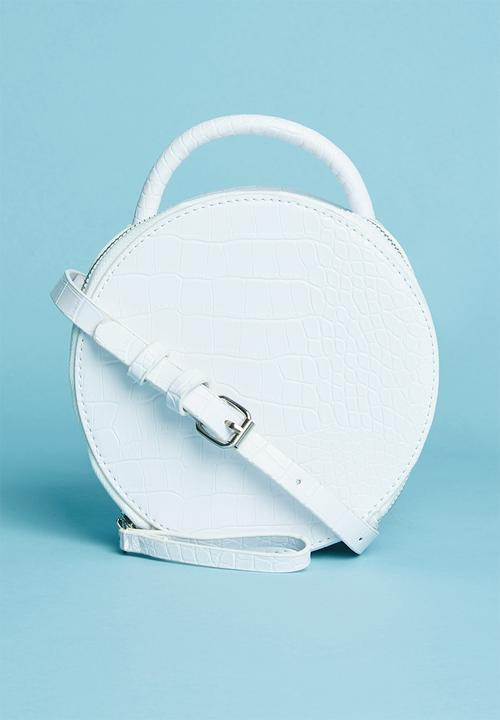 Round Croc Like Bag   White by Superbalist