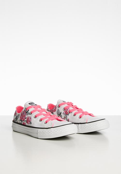 pink and black converse