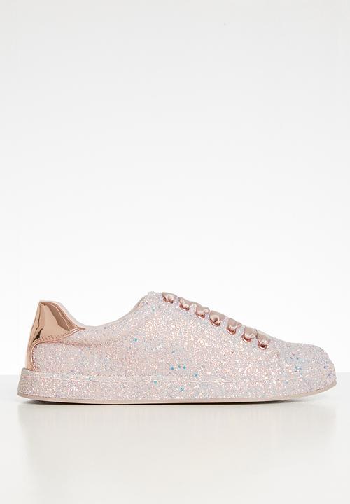 Sauwia glitter lace-up sneaker - light