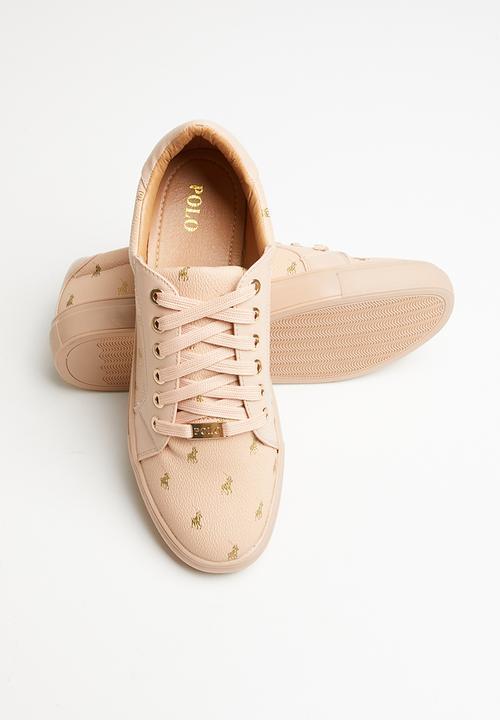 Natalie monogram sneaker - blush POLO