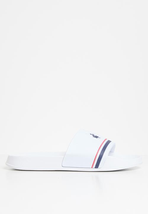Ezra Pool Slide   White by Polo