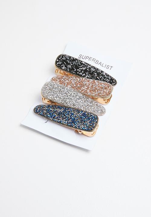 Glitter Hair Slide Set   Multi by Superbalist