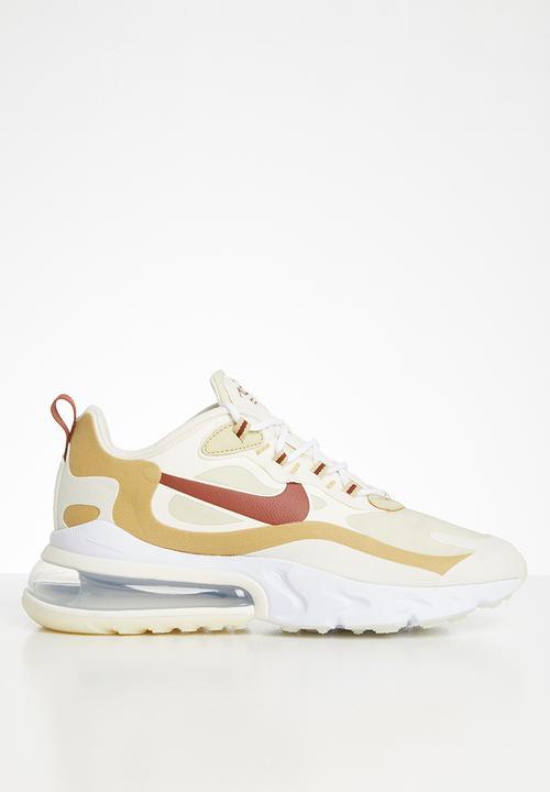 Air Max 270 React   Team Gold / Cinnamon Club Gold Pale Ivory by Nike