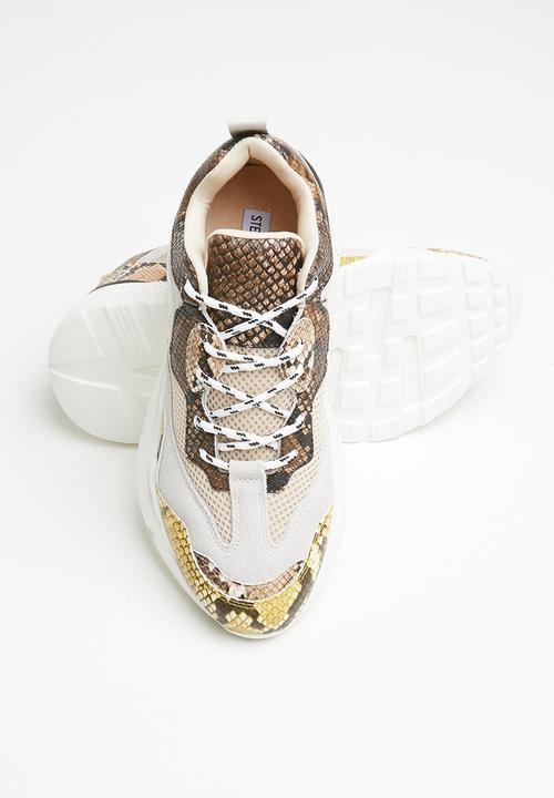 Antonia sneaker - beige snake Steve