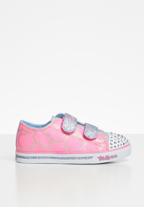 pink and blue skechers