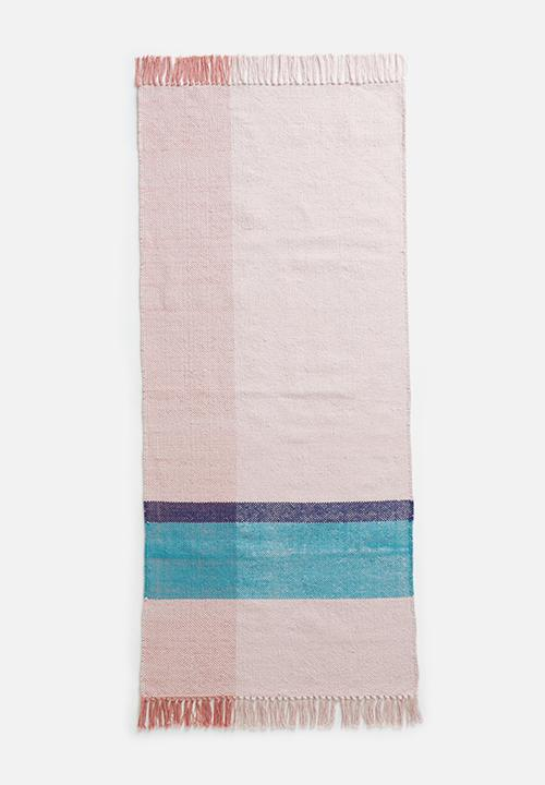 Sixth Floor - Basil colour block woven runner - multi