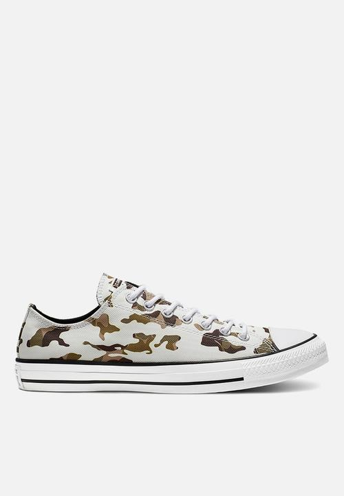Chuck Taylor All Star Allover Camo Ox Vintage   White / Black by Converse