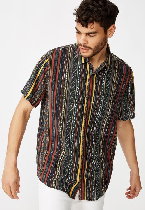 91 Short Sleeve Shirt   Multi by Cotton On