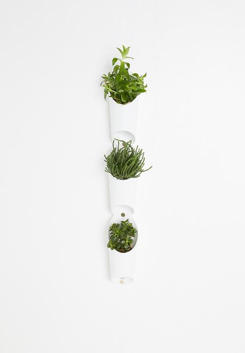 Umbra - Floralink wall vessel - white
