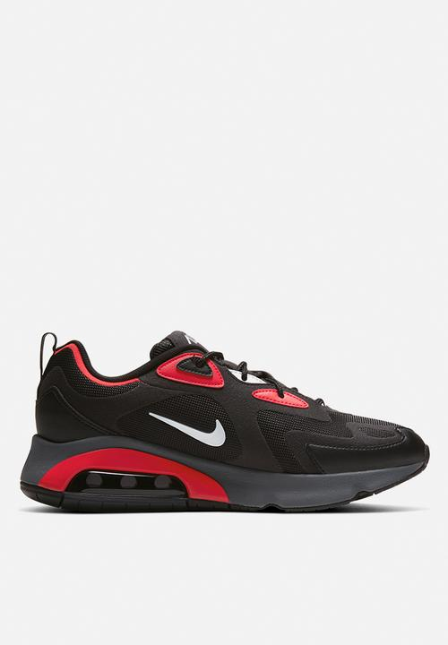 nike air max 200 black white red