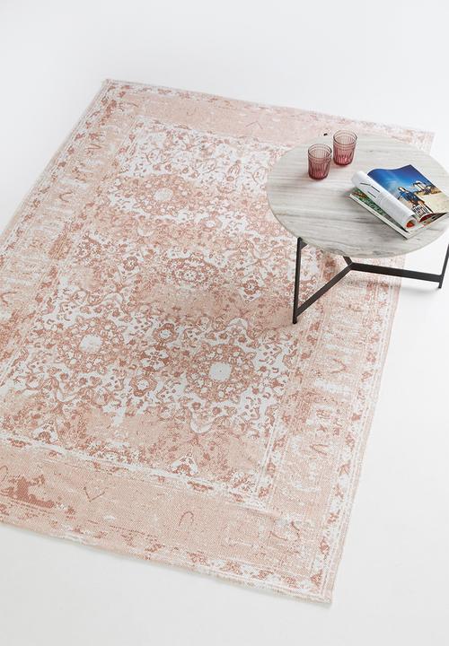 Sixth Floor - Antique printed rug - pink