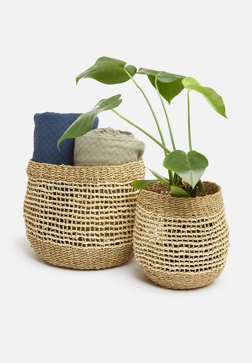 H&S - Layla basket set - natural
