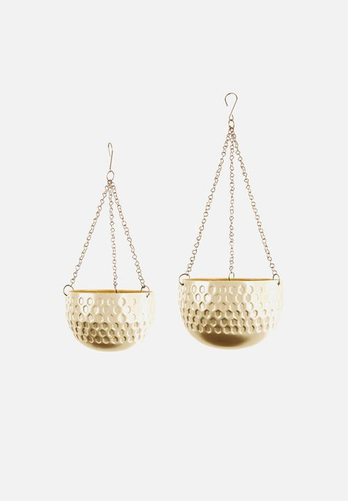 Present Time - Staunch hanging basket set - gold
