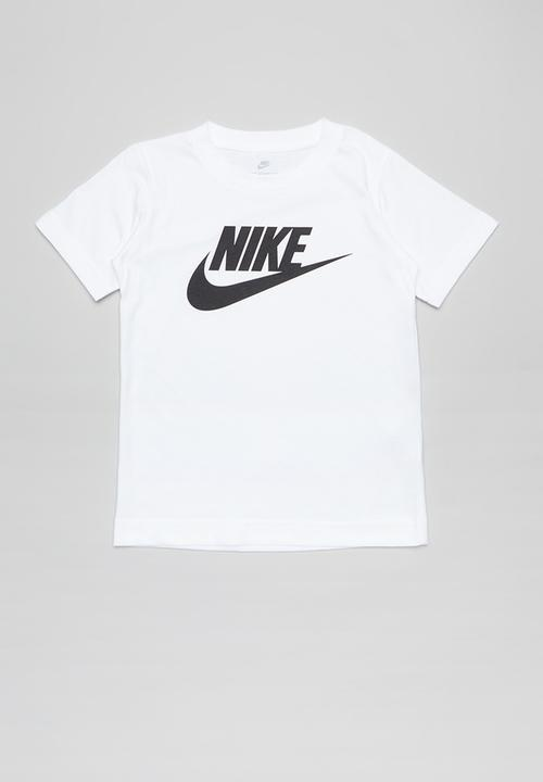 Espacio cibernético Anémona de mar Múltiple  Nike futura short sleeve tee - white Nike Tops | Superbalist.com