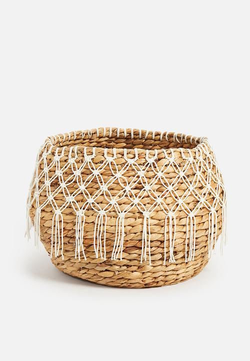 Sixth Floor - Crochet belly basket - natural