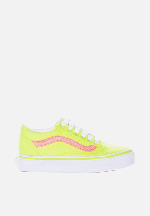 Uy old skool neon glitter - yellow/true