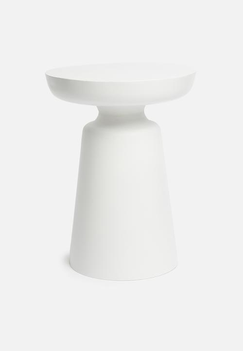 Sixth Floor - Drum side table - white