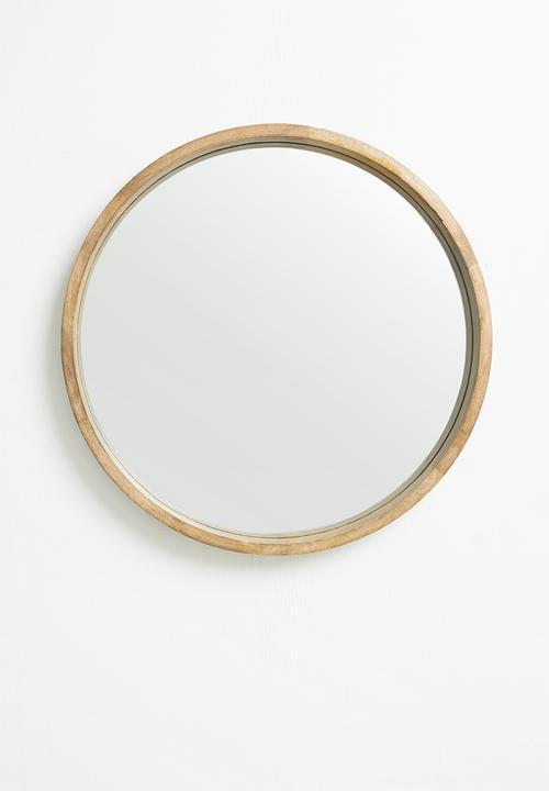 Sixth Floor - Round wood mirror - natural