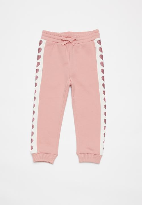 Girls active pant - pink/white GUESS Pants & Jeans   Superbalist.com