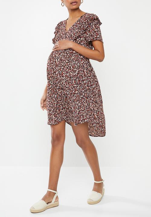 Maternity Short Sleeve Babydoll Dress Ditsy Canyon Sunset Cotton On Dresses Jumpsuits Superbalist Com