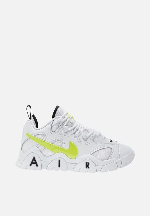 Nike air barrage low - white/volt-black