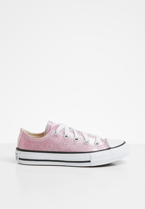 star glitter - pink glaze/white