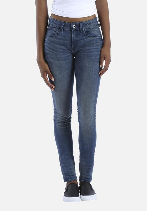 134afb615fa 3301 Contour High Super Skinny Jeans - Medium Aged G-Star RAW Jeans ...